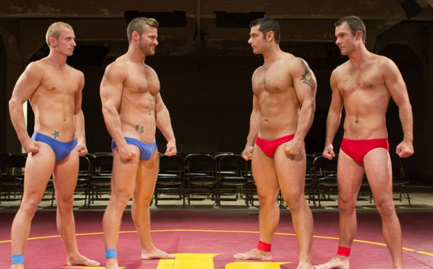 Four Speedo Wrestlers