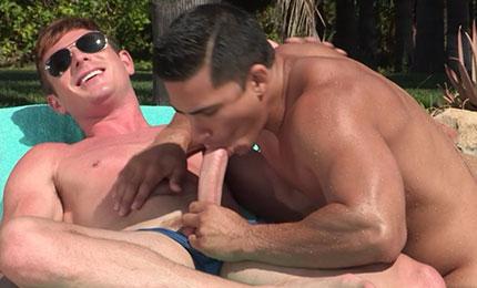 Speedo Couple Poolside
